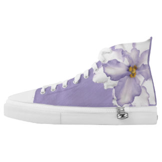 Beautiful Lavender Orchid Printed Shoes