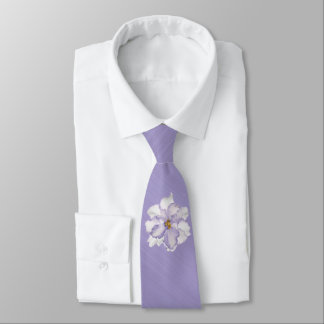 Beautiful Lavender Orchid Tie