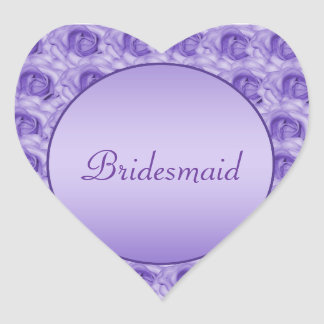 Beautiful Lavender Roses Wedding Stickers