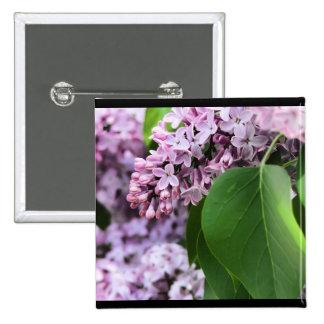Beautiful Lilac 15 Cm Square Badge