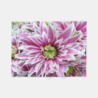 Beautiful Lilac and White Flower Fleece Blanket