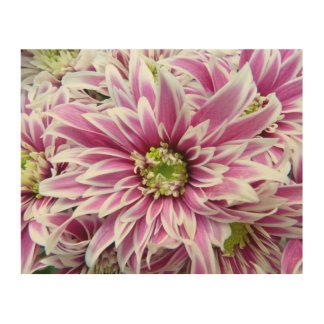 Beautiful Lilac and White Flower Wood Canvases