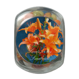 Beautiful Lilies Jelly Belly Candy Jars