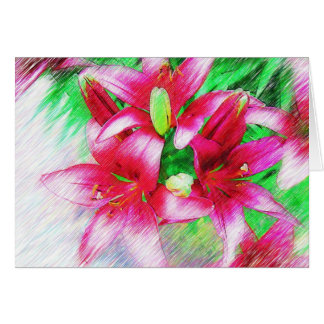 Beautiful Lily Card