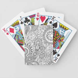 Beautiful Line Art Bicycle Playing Cards