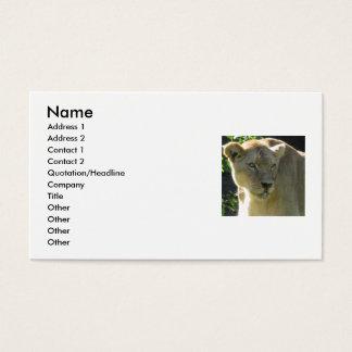 Beautiful Lioness Business Card