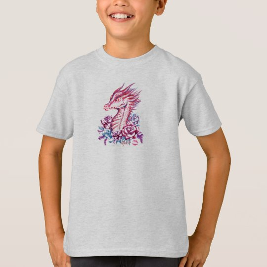Beautiful Lipstick Dragon Art Boy's T-Shirt