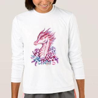 Beautiful Lipstick Dragon Art Girl's Long Sleeve T-Shirt
