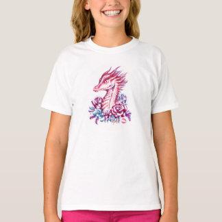 Beautiful Lipstick Dragon Art Girl's T-shirt