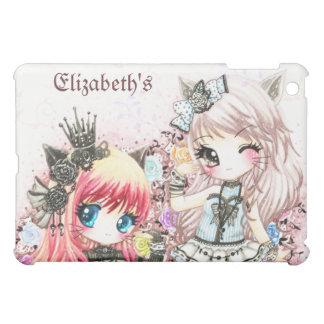 Beautiful lolita cat girls - Personalize Ipad case