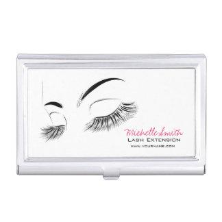 Beautiful long eyelashes Lash Extension Business Card Holder
