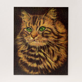 beautiful long-haired tabby cat jigsaw puzzle