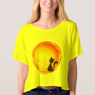 Beautiful loose blouse of lady with cat design wa T-Shirt