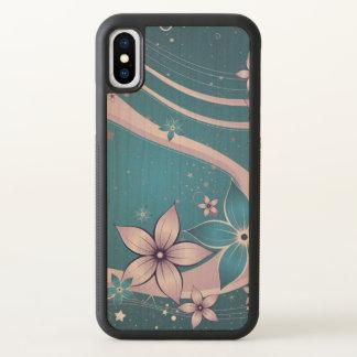 beautiful love blue purple flowers swirl art iPhone x case