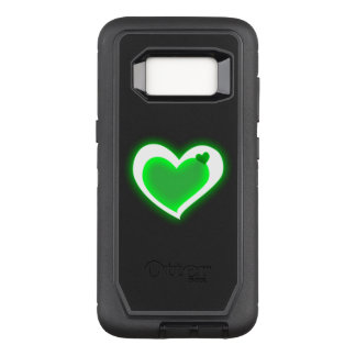 beautiful love green light hearts OtterBox defender samsung galaxy s8 case