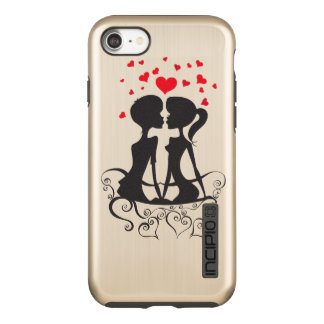 Beautiful Love Hearts Kiss swirl art Incipio DualPro Shine iPhone 8/7 Case