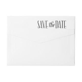 Beautiful Love Save The Date Wraparound Label Wraparound Return Address Label