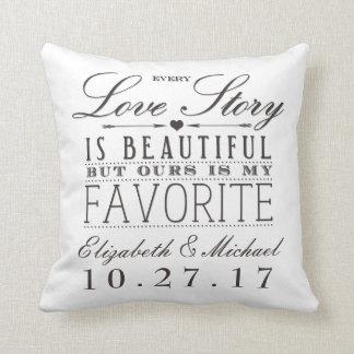 Beautiful Love Story Wedding Keepsake Pillow Light