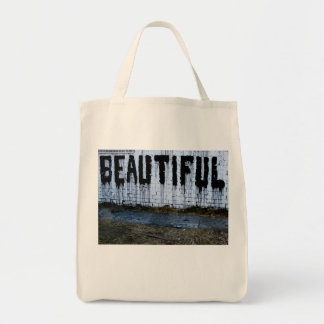 Beautiful - Love - Valentines Grocery Tote Bag