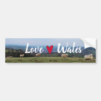 Beautiful Love Wales View Landscape Welsh Horizon Bumper Sticker