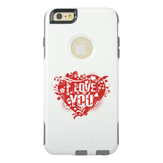 Beautiful lovely I love you red hearts vector art OtterBox iPhone 6/6s Plus Case