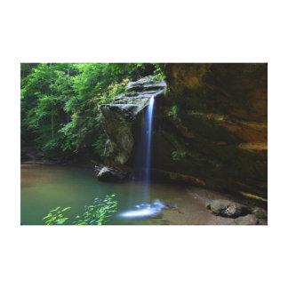 Beautiful Lush Waterfall Canvas Print