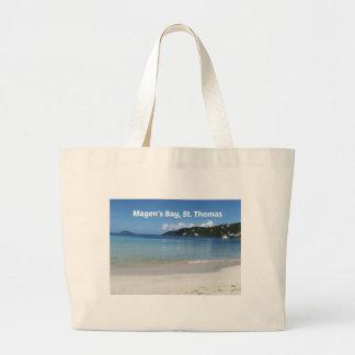 Beautiful Magen's Bay, St. Thomas Large Tote Bag