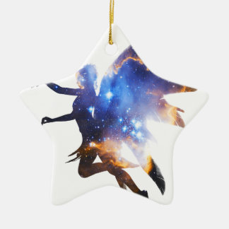 Beautiful Magical Space Fairy Ceramic Ornament
