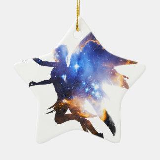Beautiful Magical Space Fairy Ceramic Star Decoration