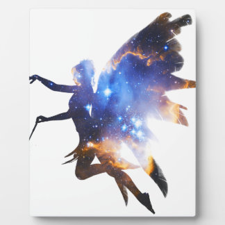 Beautiful Magical Space Fairy Plaque
