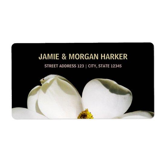 Beautiful Magnolia Wedding Address Label
