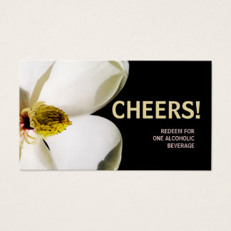 Beautiful Magnolia Wedding Drink Ticket