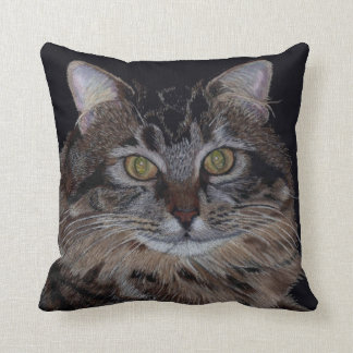 Beautiful Maine Coon Cat Pillow
