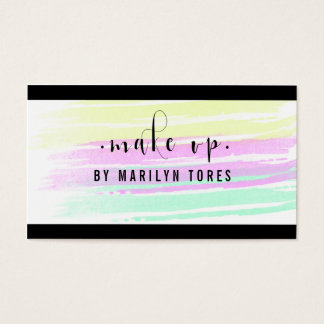 ★ Beautiful Make Up Watercolour Design ★ Business Card