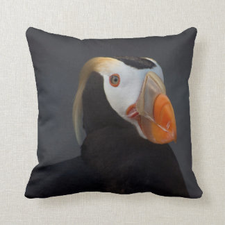 Beautiful Male Tufted Puffin Cushion