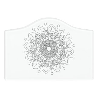 Beautiful mandala desing flower design indian vect door sign