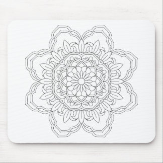 Beautiful mandala desing flower design indian vect mouse pad