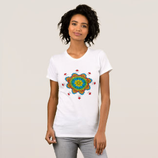 Beautiful mandala desing flower design indian vect T-Shirt