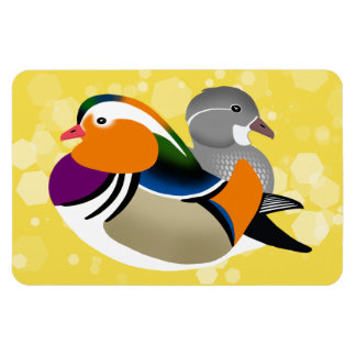 Beautiful Mandarin Ducks Rectangular Photo Magnet