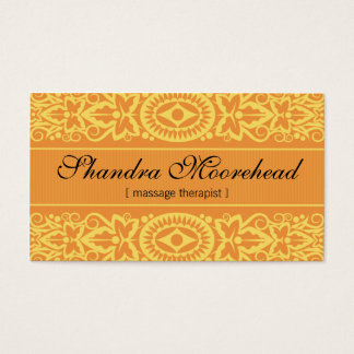 Beautiful Mango Massage Therapist Business Card