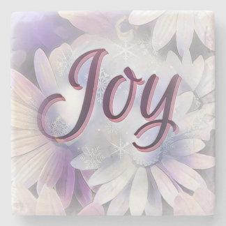 Beautiful Marble Stone Coaster Full of Joy.