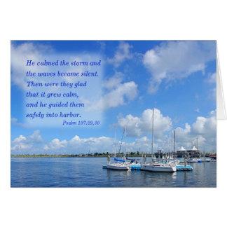 Beautiful Marina and Port Card