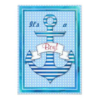 Beautiful Marine Sailor Boy Shower Custom Invite
