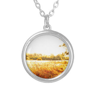 Beautiful Meadow Sunrise Silver Plated Necklace