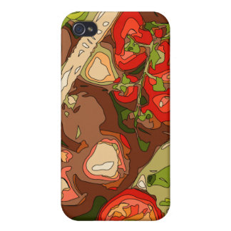Beautiful Medley of Organic Fruits and Vegetables iPhone 4 Cover