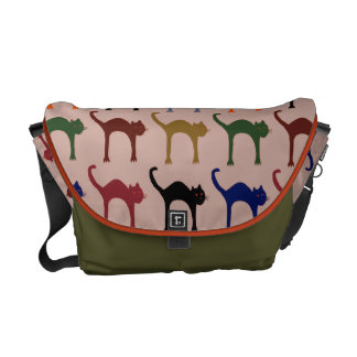 beautiful meow pattern courier bags