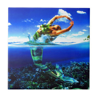 Beautiful Mermaid Paintings Ceramic Tile