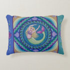 Beautiful mermaid swimming in the sea. decorative cushion