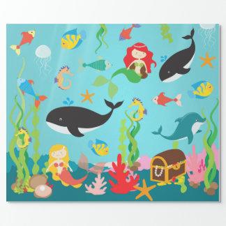 Beautiful Mermaids & Sea Life (Med./Lg. Image)