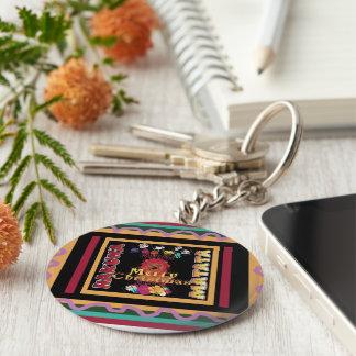 Beautiful Merry Christmas Hakuna Matata Latest Art Basic Round Button Key Ring